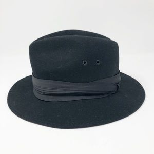 Geo. W. Bollman & Co black wool hat -size Medium